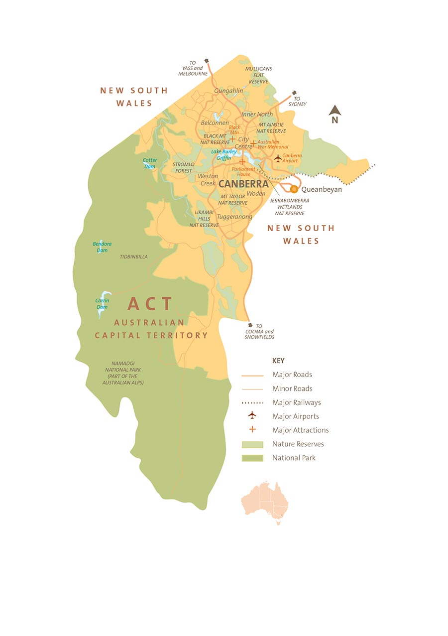 Map of the Australian Capital Territory