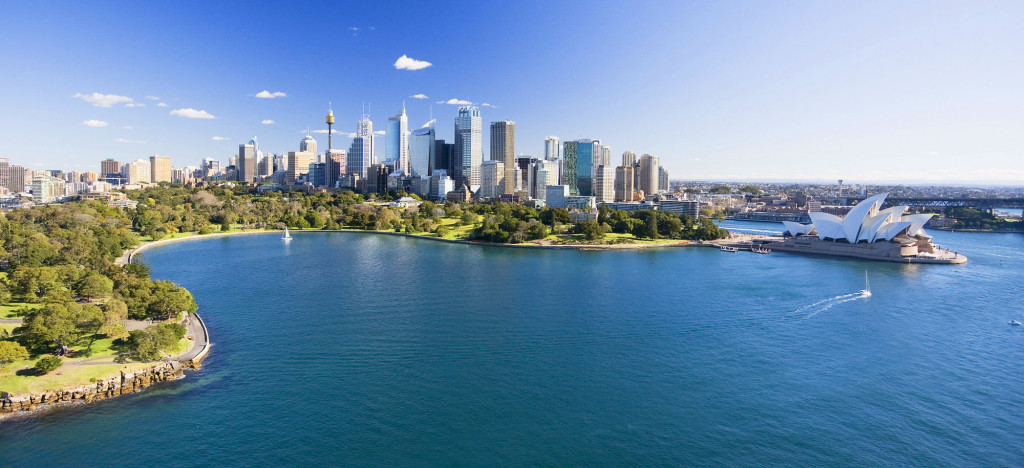 New South Wales Sydney Royal Botanic Gardens and Opera House