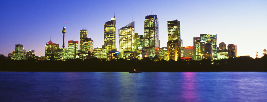 New South Wales Sydney City Skyline at Night