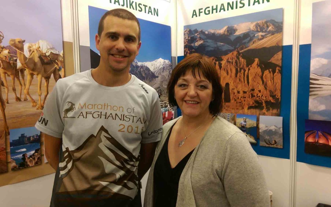 James Willcox at the Adventure Travel Show 2016